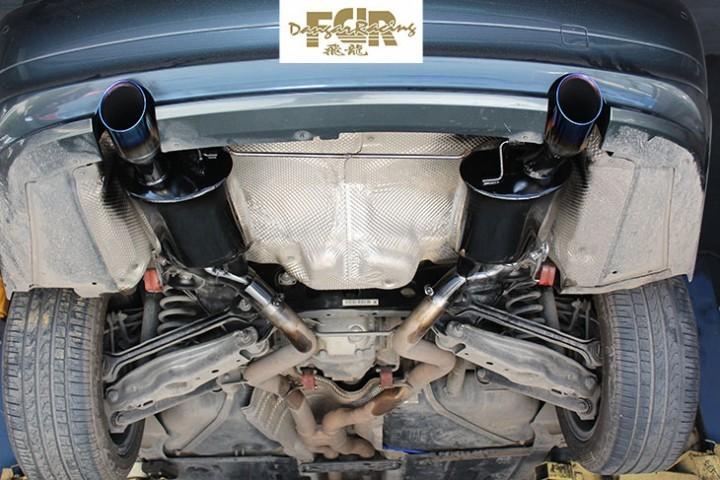 宝马3系改装尾段双阀门排气管