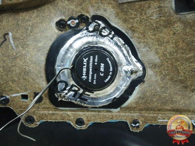 宝马X1音响改装无损升级德国喜力士C63C三分频竞赛级喇叭...