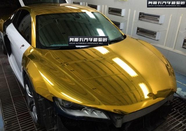 武汉车身改色贴膜 奥迪R8车身改色贴膜