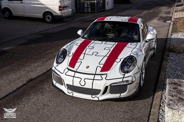 保时捷911 R改装超可爱拼图式外观