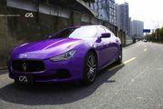 玛莎拉蒂亮光紫车身改色