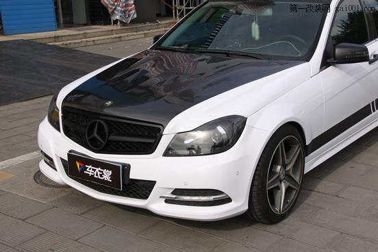 4-奔驰C63 AMG珠光白车身改色1.png