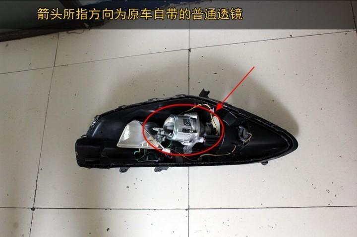 马鞍山起亚K3改灯 原装Q5透镜 欧司朗氙气灯 LED天使眼